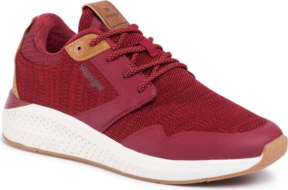 Czerwone buty sportowe Wrangler sznurowane