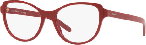 Czerwone okulary damskie Prada