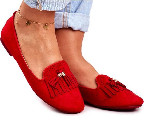 Czerwone półbuty Bugo w stylu casual