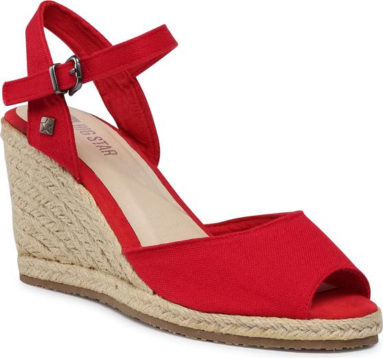 Czerwone sandały Big Star z klamrami