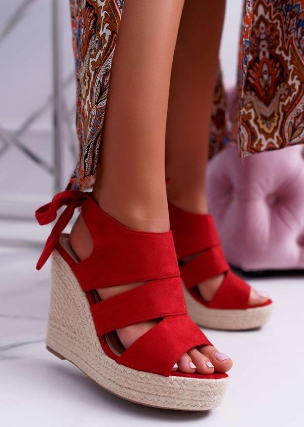 Czerwone sandały FLORENCE czerwone A8LIE2cp