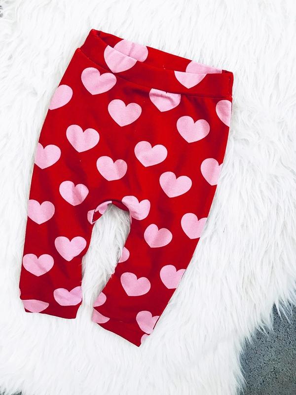 Czerwone spodnie dziecięce ilovemilk.pl dla dziewczynek