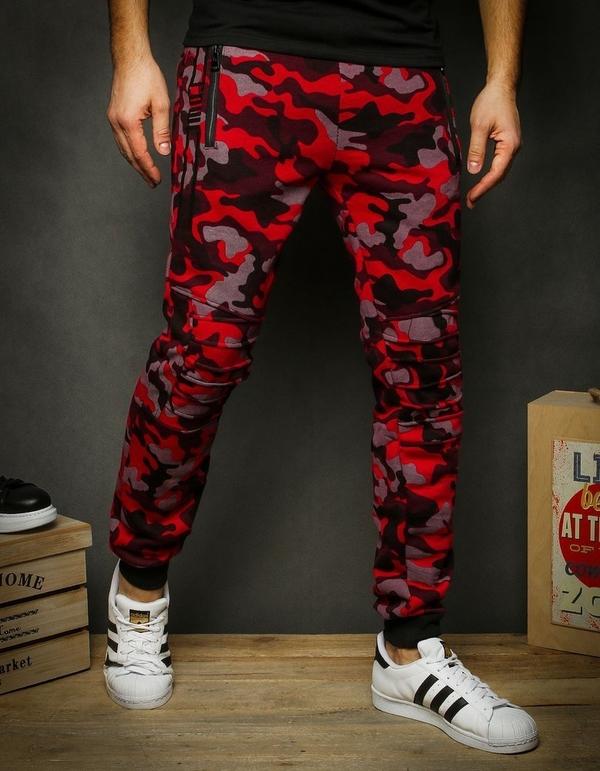 Czerwone spodnie sportowe Dstreet