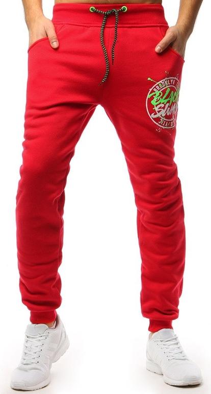 Czerwone spodnie sportowe Dstreet w sportowym stylu