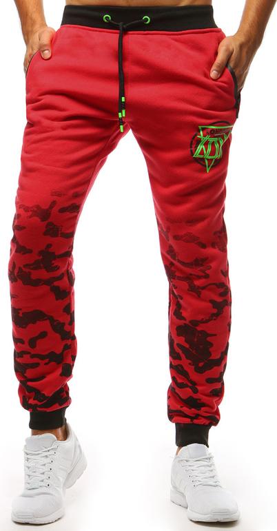 Czerwone spodnie sportowe Dstreet w street stylu