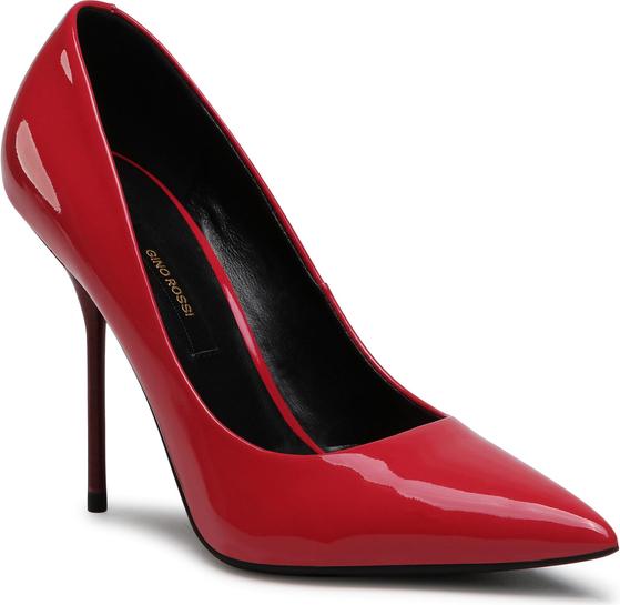 Czerwone szpilki Gino Rossi na wysokim obcasie