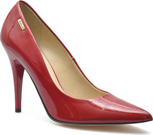 Czerwone szpilki Sala w stylu glamour na szpilce na wysokim obcasie
