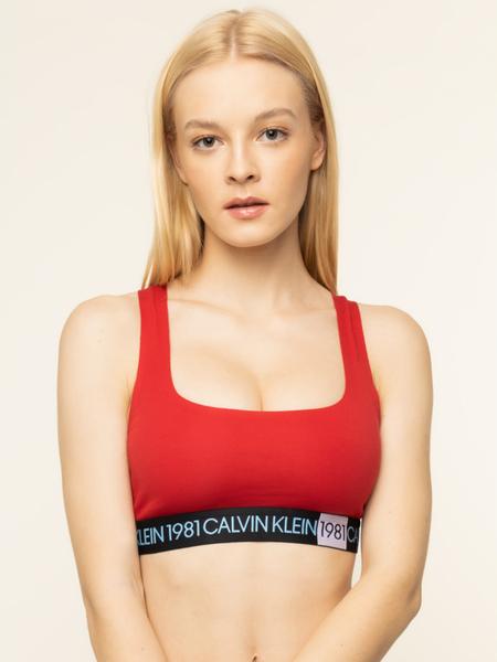 Czerwony biustonosz Calvin Klein Underwear