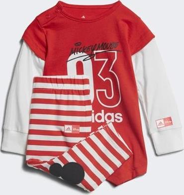Czerwony komplet dziecięcy Adidas