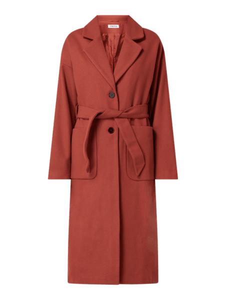 Czerwony płaszcz EDITED z wełny w stylu casual