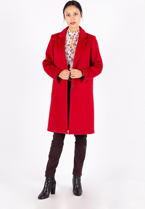 Czerwony płaszcz MEXX z wełny w stylu casual