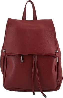 Czerwony plecak Barberini`s ze skóry