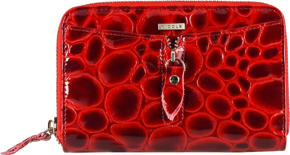 Czerwony portfel Nicole