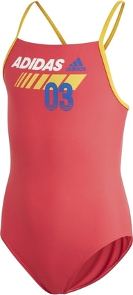 Czerwony strój kąpielowy Adidas Performance