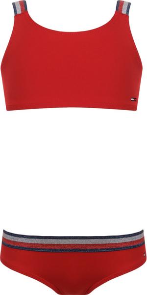 Czerwony strój kąpielowy Tommy Hilfiger w paseczki