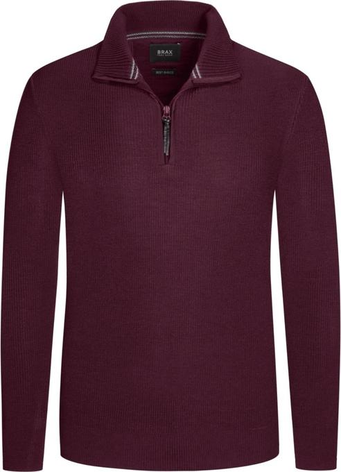 Czerwony sweter Brax w stylu casual