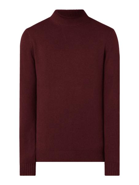 Czerwony sweter Christian Berg Men z bawełny w stylu casual