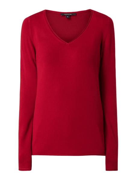 dobra jakość Czerwony sweter Tommy Hilfiger z wełny w stylu