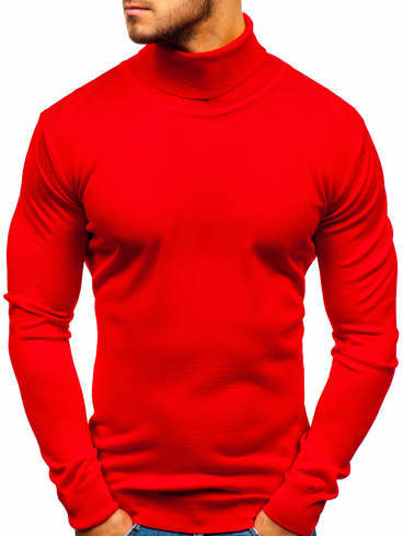 Czerwony sweter Denley z jeansu