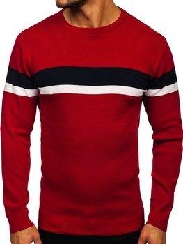 Czerwony sweter Denley z wełny