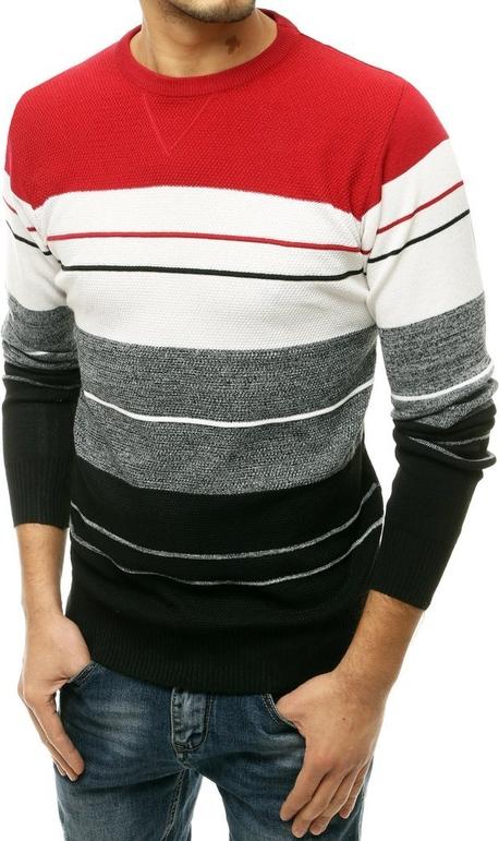 Czerwony sweter Dstreet w młodzieżowym stylu z wełny