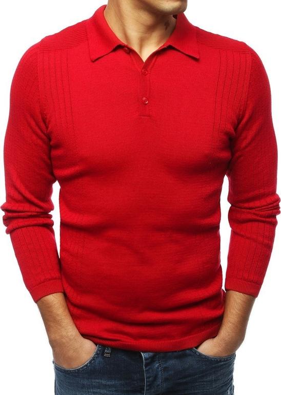 Czerwony sweter Dstreet z bawełny