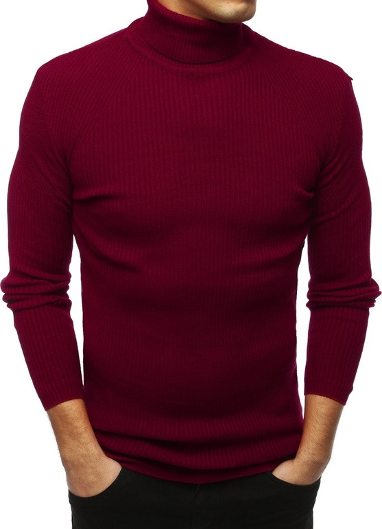 Czerwony sweter Dstreet z tkaniny