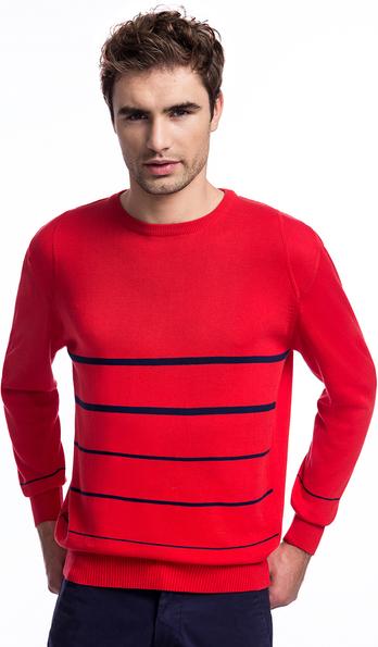 Czerwony sweter giacomo conti