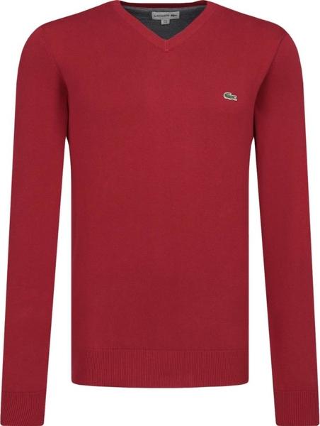 Czerwony sweter Lacoste