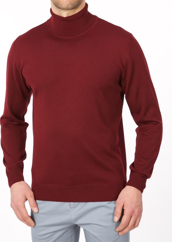 Czerwony sweter Lanieri z wełny