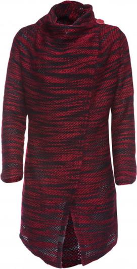 Czerwony sweter Look made with love w stylu casual