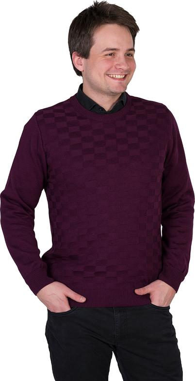 Czerwony sweter M. Lasota ze skóry ekologicznej