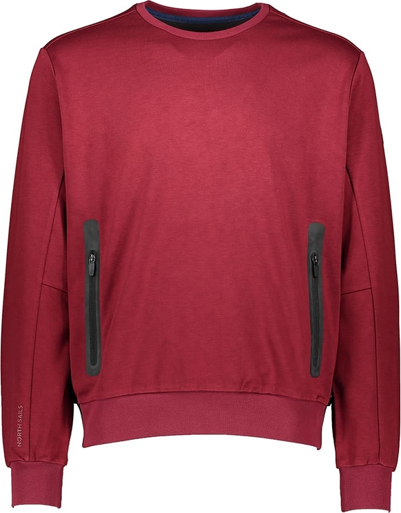Czerwony sweter North Sails z wełny