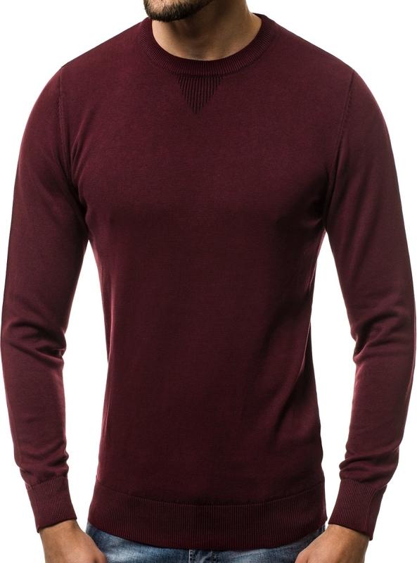 Czerwony sweter Ozonee.pl z bawełny