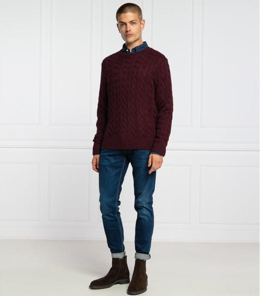 Czerwony sweter POLO RALPH LAUREN w stylu casual