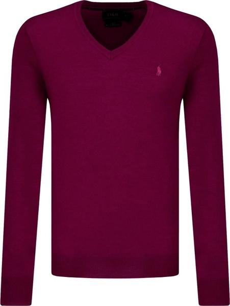 Czerwony sweter POLO RALPH LAUREN w stylu casual z wełny