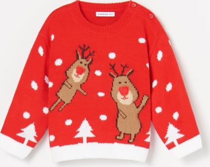 Czerwony sweter Reserved dla chłopców