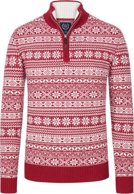 Czerwony sweter Tom Rusborg z wełny