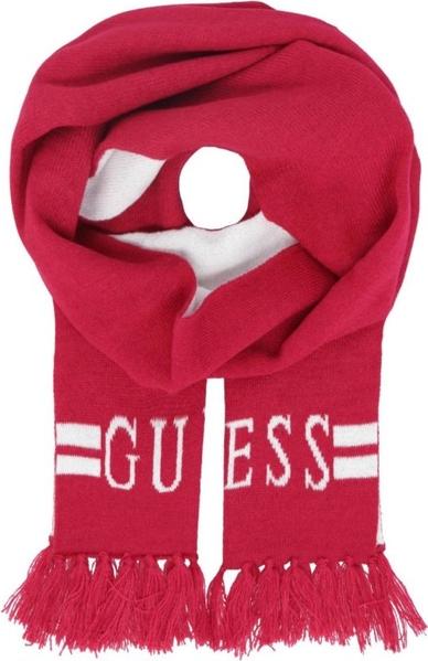 Czerwony szalik dziecięcy Guess