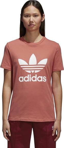 sprzedaż Czerwony t-shirt Adidas z bawełny Odzież Damskie Topy i koszulki damskie BY CLNUBY-9