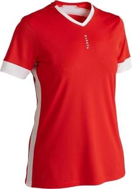 Czerwony t-shirt Kipsta