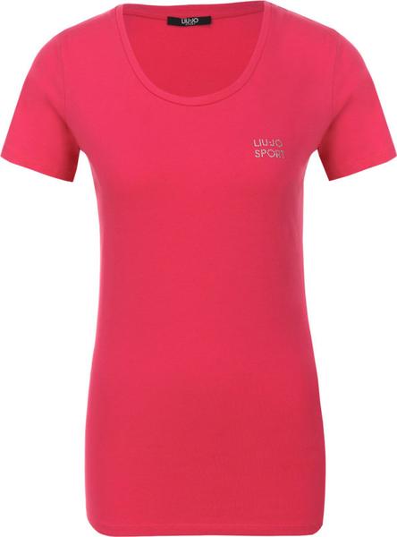 Czerwony t-shirt Liu Jo Sport z krótkim rękawem w stylu casual