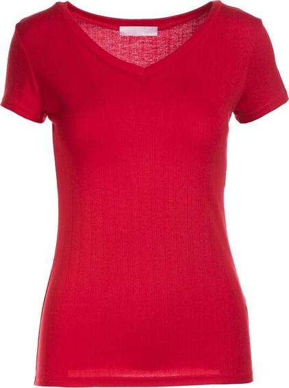 Czerwony t-shirt Multu w stylu casual