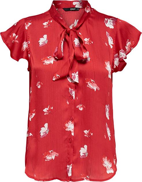 Czerwony t-shirt Only z krótkim rękawem
