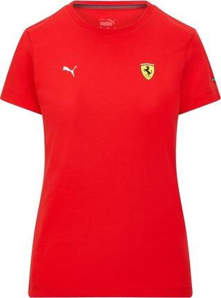 Czerwony t-shirt Scuderia Ferrari F1 Team z krótkim rękawem