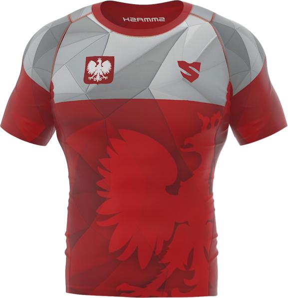 Czerwony t-shirt Smmash z nadrukiem