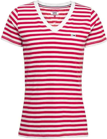 Czerwony t-shirt Tommy Jeans w stylu casual