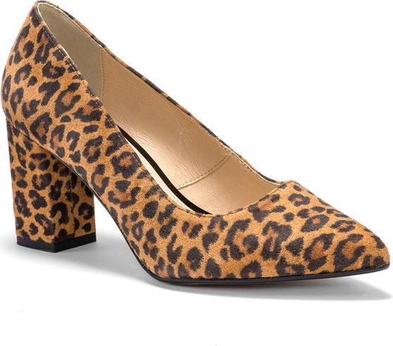 Czółenka Marco Shoes ze skóry
