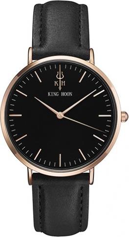 Damski zegarek KING HOON black-rose-black