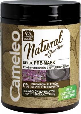 Delia Cosmetics Cameleo Natural Detox Pre maska oczyszczająca do włosów z glinką 250 ml
